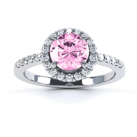 Pink-sapphire-halo-engagement-ring-with-diamond-shoulders