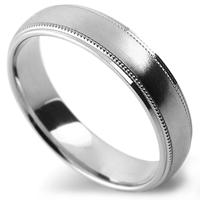 Milgrain patterned wedding ring