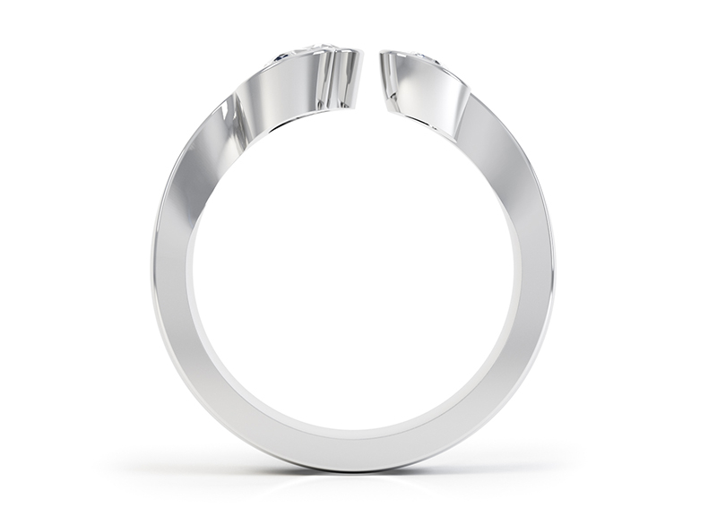 Side view of the interlocking ring set