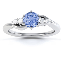 Tanzanite-and-diamond-engagement-ring