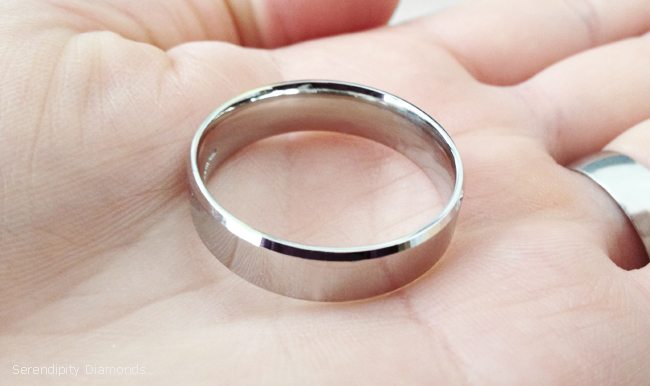 Large wedding rings for men - Z+ size wedding ring in Palladium