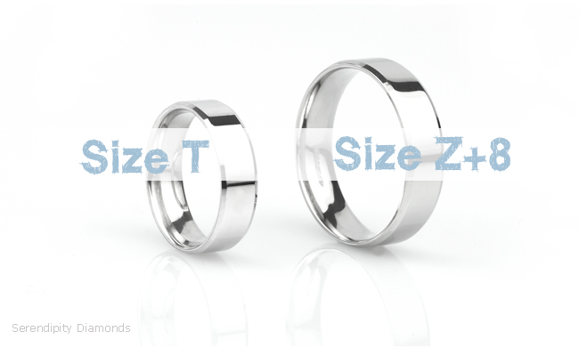 Men's size Z wedding rings for large finger sizes