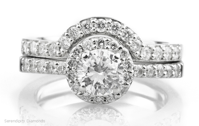 Diamond Wedding Rings and the Halo Setting