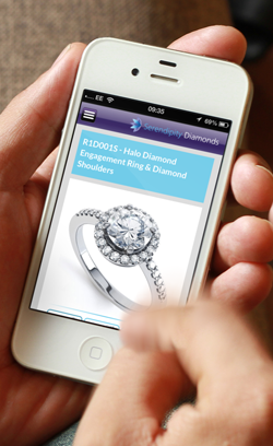Product pages for Serendipity Diamonds Mobile View
