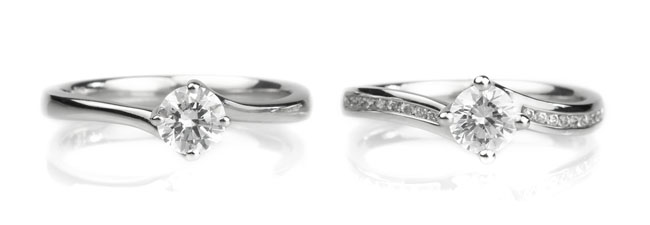 Twist Engagement Rings