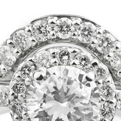 Diamond wedding ring for halo setting featured image