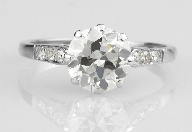 Old cut diamonds can be difficult to replace when lost from engagement rings