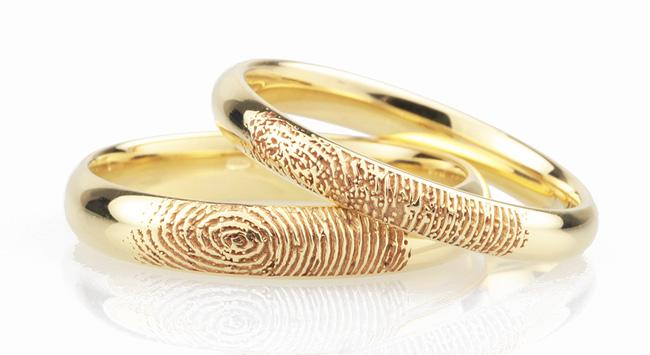 Fingerprint Wedding Rings – Engraved in 5 Easy Steps