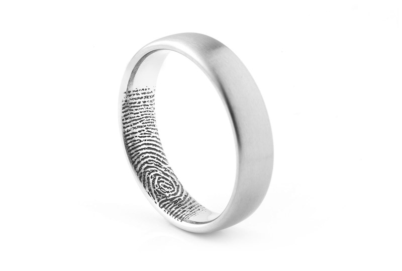 ring cptc hanebrink tungsten fingerprint product concaved polished engraved rings engagement