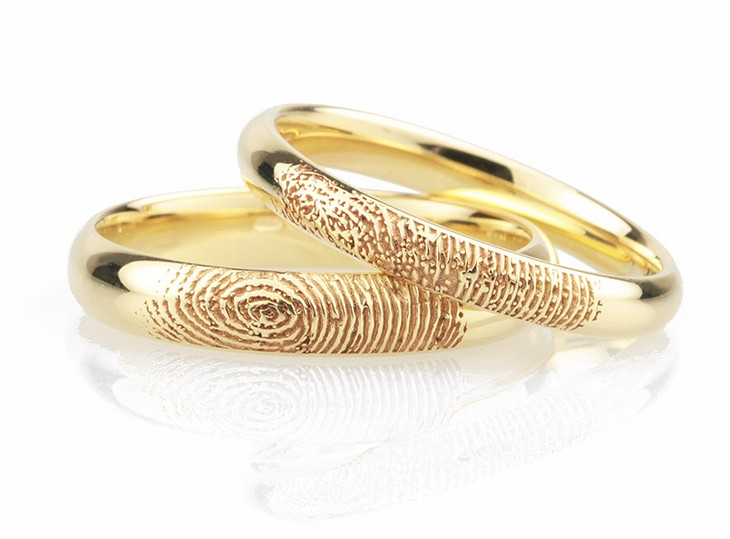 Fingerprint wedding rings photograph
