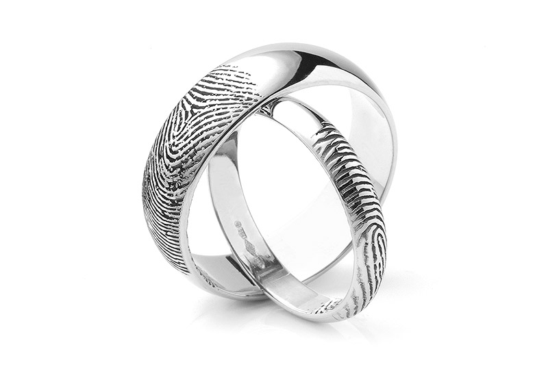 popular most engagement fingerprint custom rings wedding ring