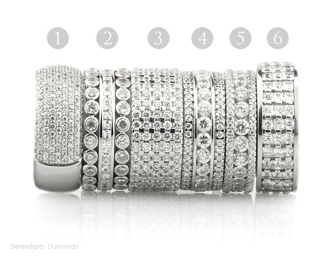 Wow factor diamond eternity rings, designs from the Raphael Collection