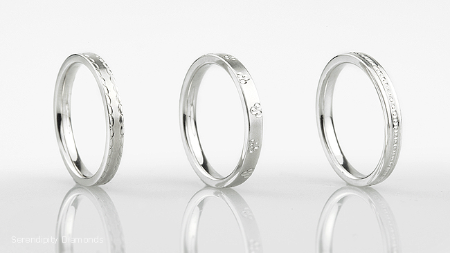 Details without Diamonds Pretty Patterned Wedding Rings