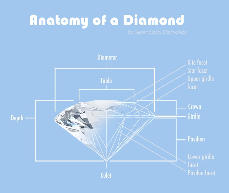 Anatomy Of A Polished Diamond The Round Brilliant Cut