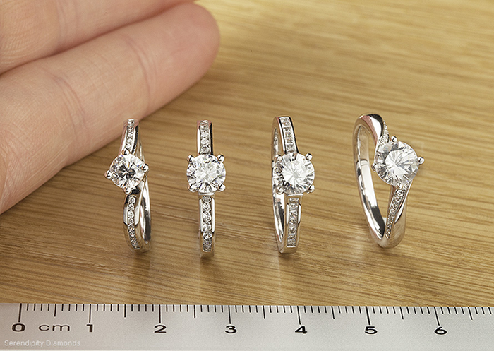 set size and easy halo simply rings engagement your ottawa follow diamond setting custom pave these measure steps ring to