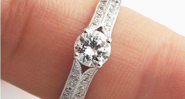 Double-Shoulder-Milgrain-Edging-Engagement-Ring
