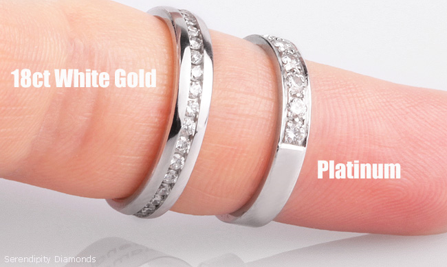 Platinum vs 18ct White Gold Which is Harder Wearing