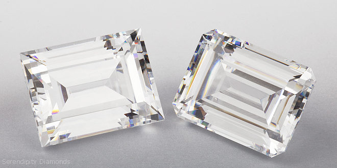 Emerald Cut and Baguette Step Cut Diamonds