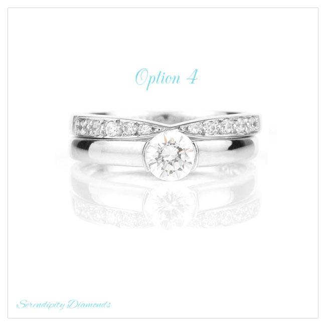 Bowtie design diamond wedding ring