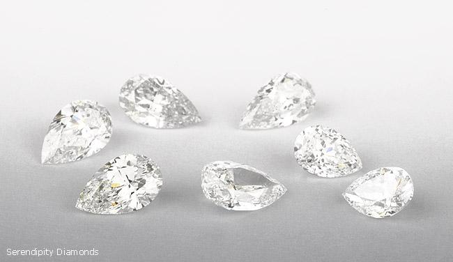 2ct Pear Shaped Diamonds