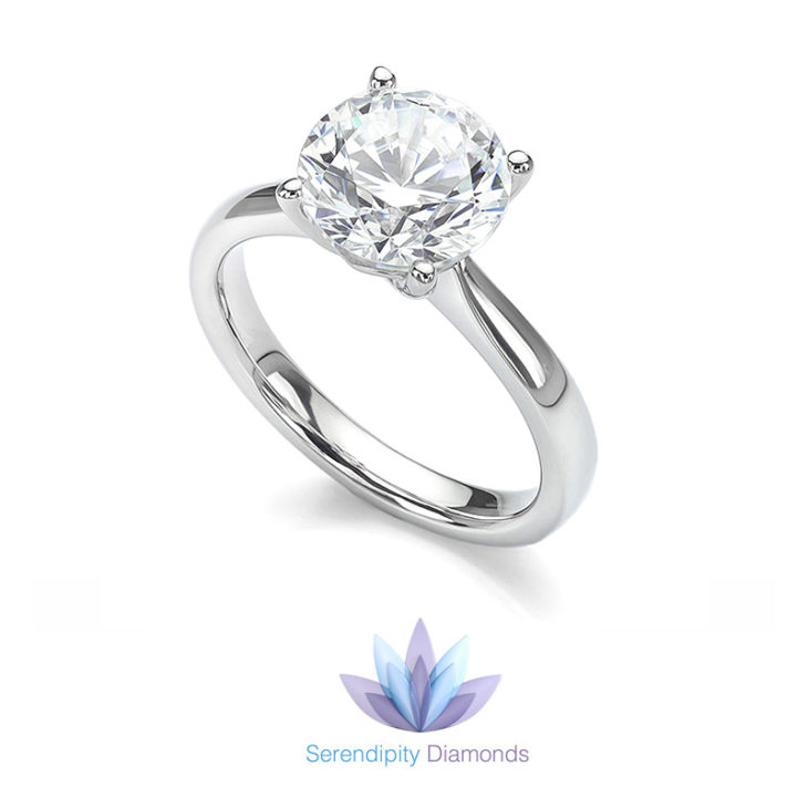 Perfect solitaire engagement ring design