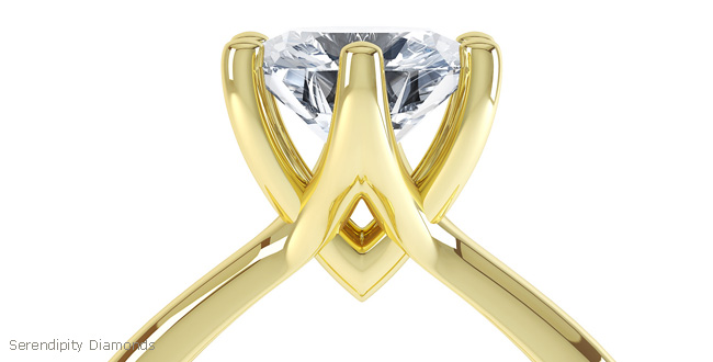 All yellow gold engagement ring design R1D037