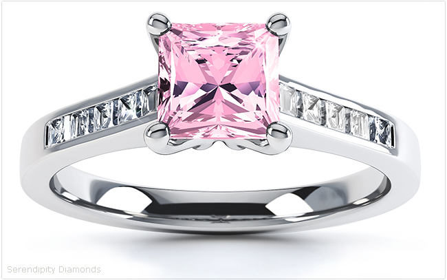 Square Pink Sapphires Pink Perfection for Engagement Rings