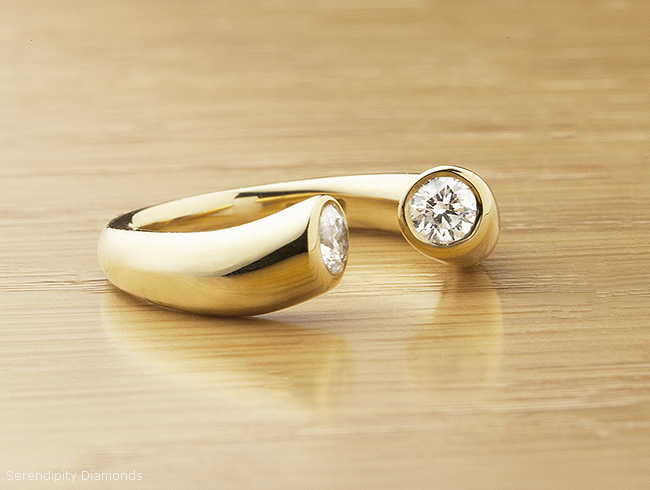white reverie modern engagement contemporary ring gold earth brilliant rings