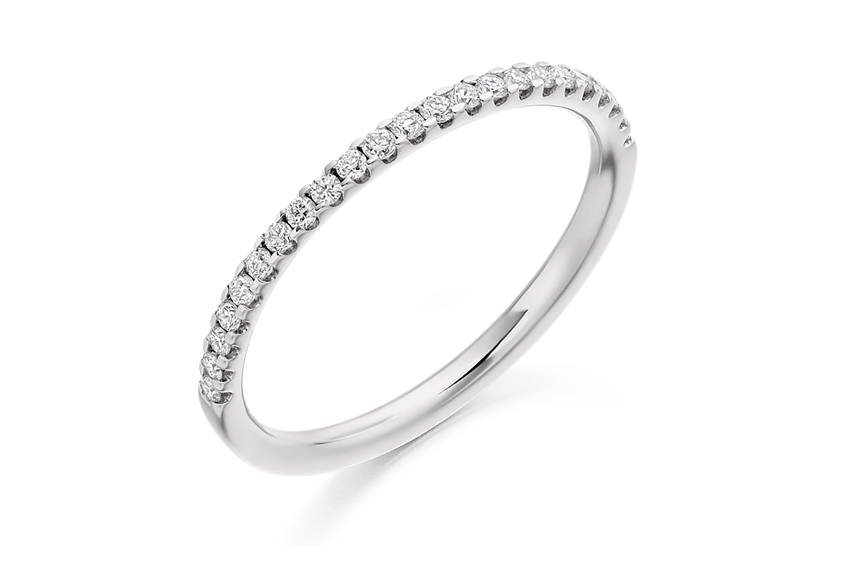 Slim eternity ring 1.6mm wide set with diamonds