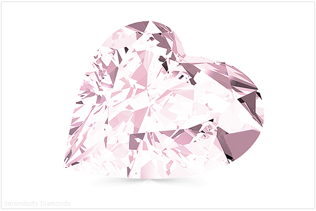 Pink heart shaped diamond
