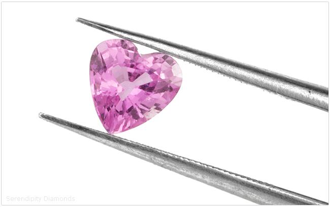 Pink Sapphire Heart Shape