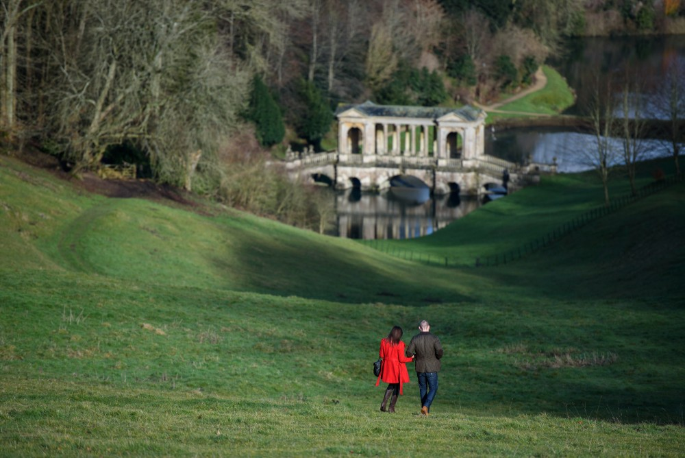 Walking in the gardens of Prior Park