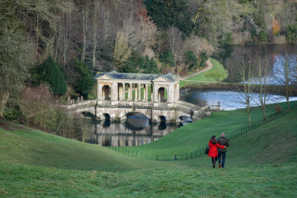 View towards the Palladian bridge.