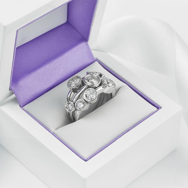 3 Carat Raindance Inspired Diamond Ring