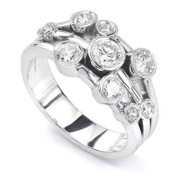 Madison 1 Carat Raindance Inspired Diamond Bubble Ring