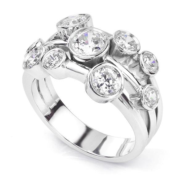 Delancey 1.5 Carat Diamond Bubble Ring