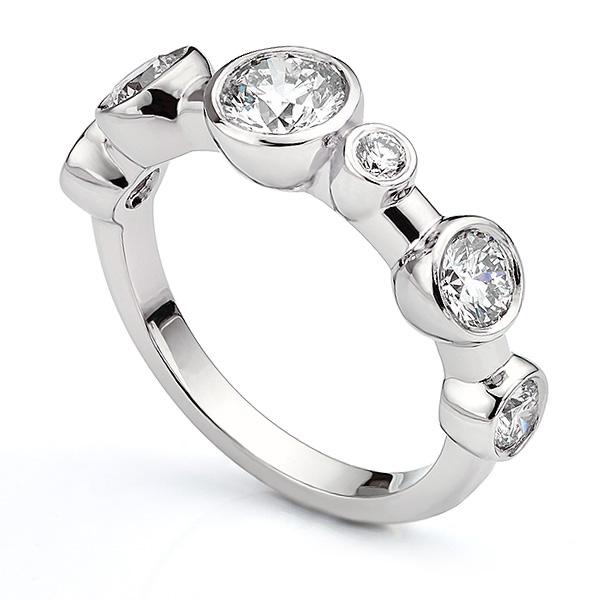 Vanderbilt Raindance Inspired Diamond Bubble Ring