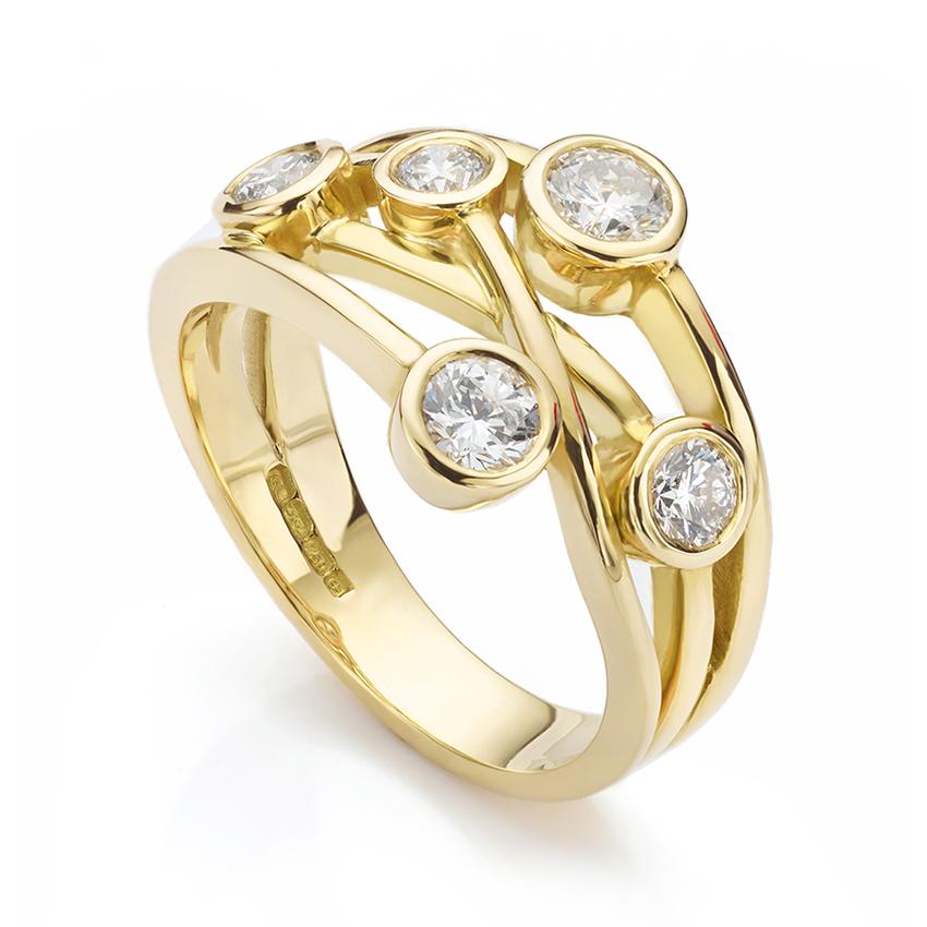 Waverly Diamond Bubble Ring