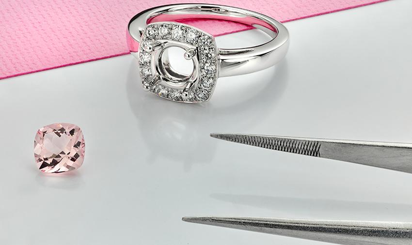 Morganite makes a great alternative to a pink diamond