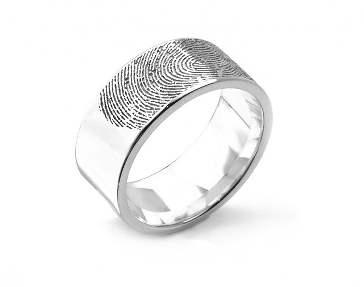 e1dee3e35ff Memorial Fingerprint Rings - In Loving Memory