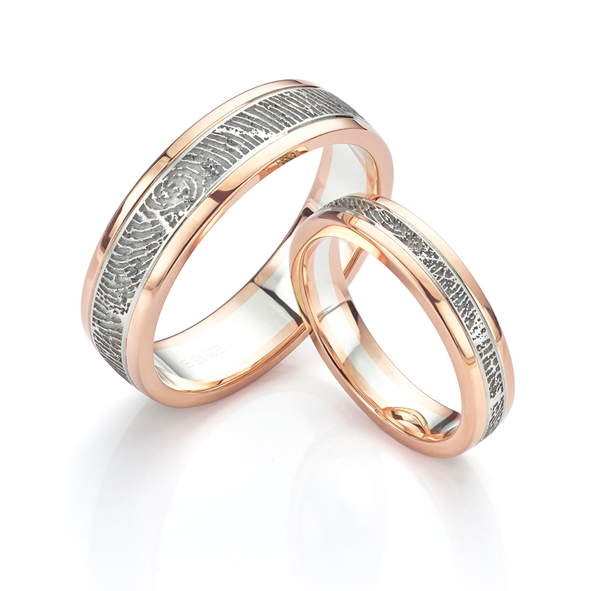 fingerprint wedding rings side ringcraft product moana ring band engagement