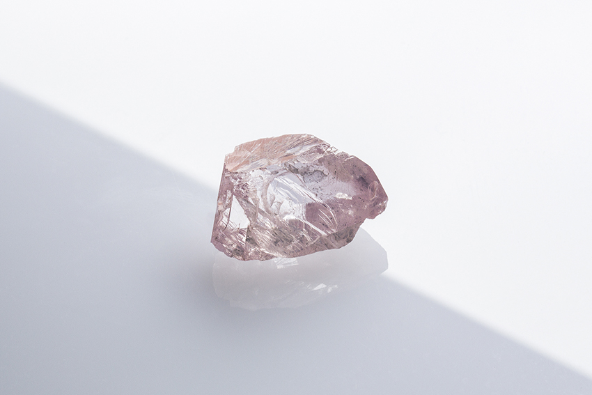 Natural pink diamond in rough form