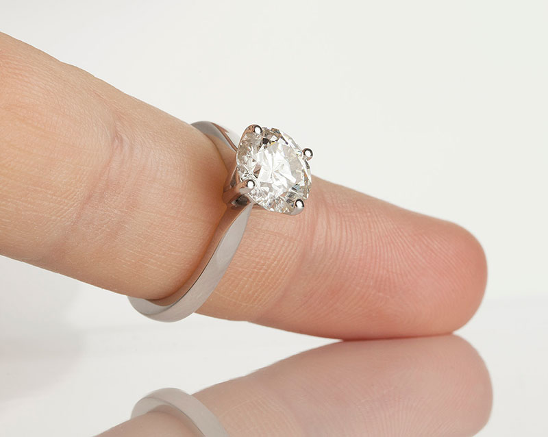 2 carat classic round diamond solitaire engagement ring
