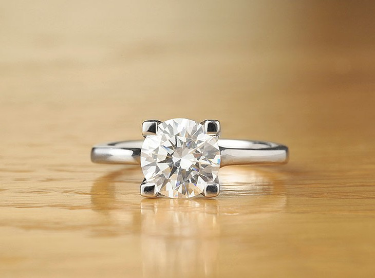 4 Claw engagement ring Sancy
