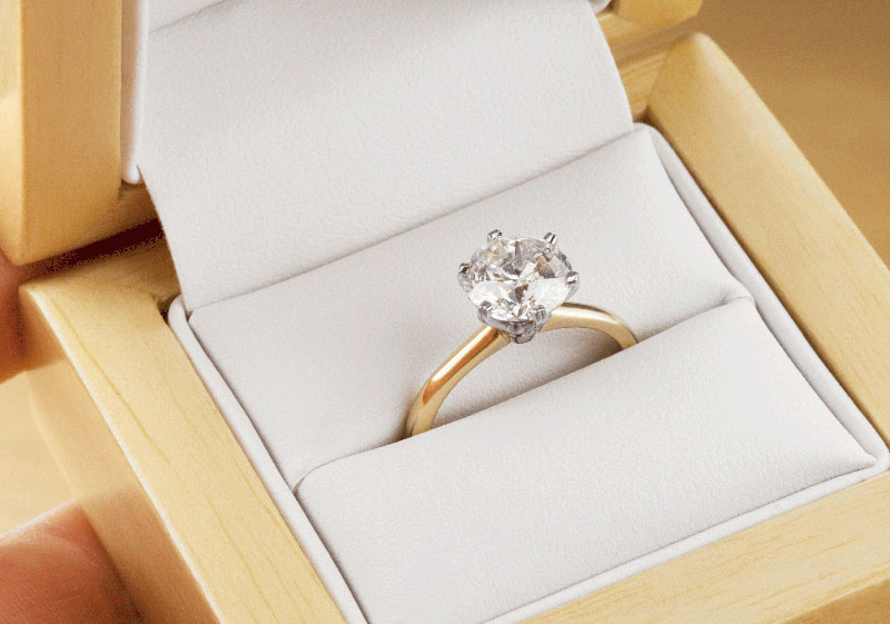 Tiffany style 2 carat diamond engagement ring with 6 claw setting