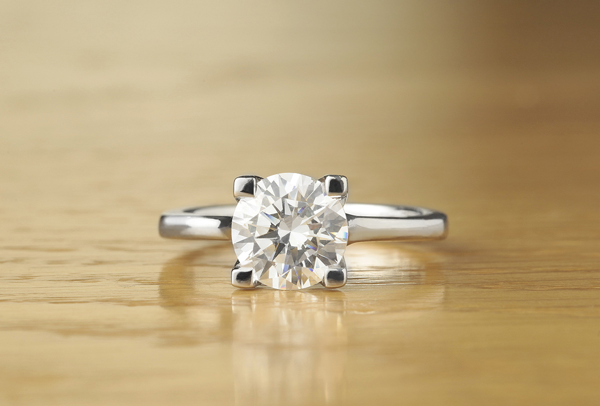 Sancy Solitaire Diamond Ring