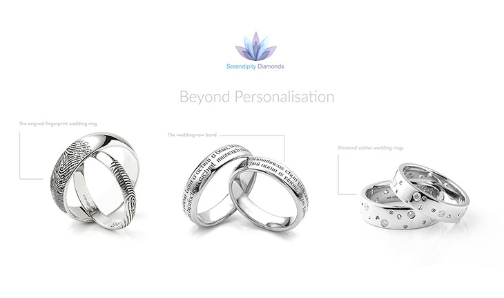Beyond personalisation for wedding rings