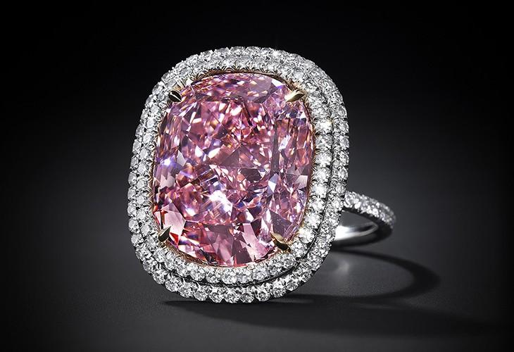 Christies 16.08ct Pink Cushion Cut Diamond