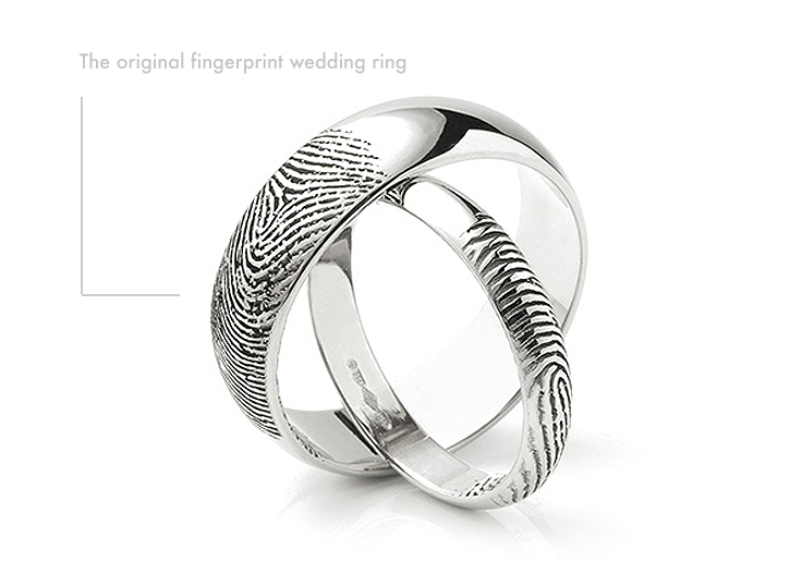 The original fingerprint wedding ring