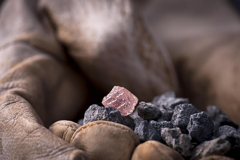 Natural pink diamond courtesy Rio Tinto